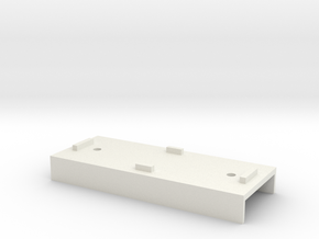 Base Carriage Europe #1 (n-scale) in White Strong & Flexible