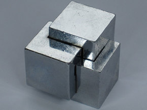Oskar's Cubes Metal in Stainless Steel