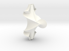 The Kuen Surface (1.5 turns) in White Strong & Flexible Polished