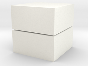 Cubic 1x1x2 2cm in White Strong & Flexible Polished