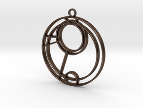 Emma - Necklace in Polished Bronze Steel