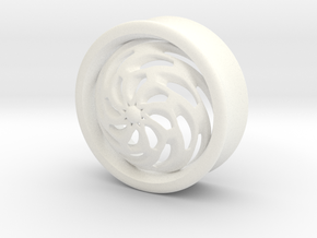 VORTEX4-29mm in White Strong & Flexible Polished