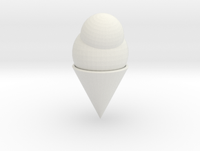 Ice Cream Cone in White Strong & Flexible