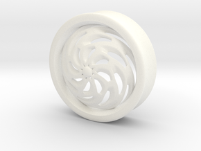 VORTEX4-35mm in White Strong & Flexible Polished