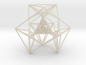 Sierpinski Tetrahedron and its Inversion in White Acrylic