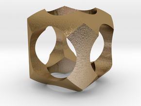 Intersection in Polished Gold Steel