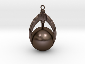 Ball And Claws (large) Pendant in Polished Bronze Steel