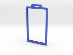 Badge minimal frame with tab - 20141103-01 in Blue Strong & Flexible Polished