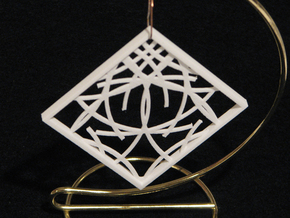 Ornament 03d in White Strong & Flexible
