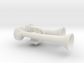 """1.5"""" scale nathan air horn in White Strong & Flexible"""
