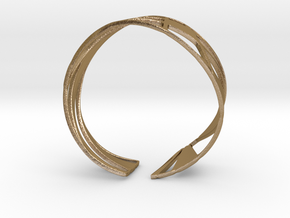 Triangulation Bracelet in Polished Gold Steel