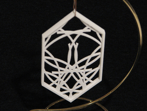 Ornament 04f in White Strong & Flexible