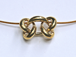 Knot B in Polished Brass