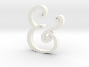 Acrylic Ampersand in White Strong & Flexible Polished