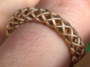 Wire mesh ring (US 6¼) in Raw Bronze