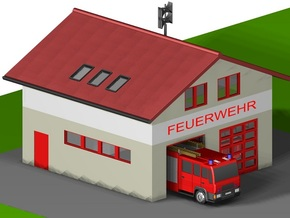 kleine Feuerwache/ little fire station (Z,1:220) in White Strong & Flexible