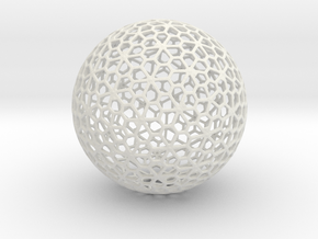 Floral Pattern Sphere in White Strong & Flexible