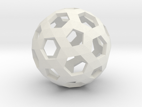 Football Holes Sphere in White Strong & Flexible