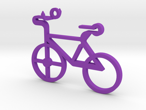 Bicycle Pendant in Purple Strong & Flexible Polished