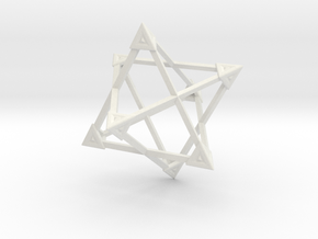 Merkaba Wire Pyramids Only 1 Caps 5cm in White Strong & Flexible