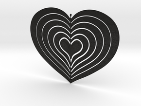 Change Of Heart Spinner Spiral Ribs 15cm in Black Acrylic
