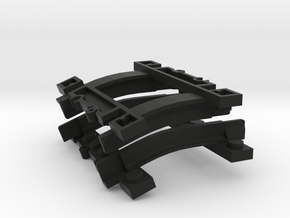 Rail parts for Lego Trains in Black Strong & Flexible