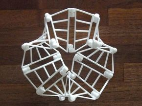 Trefoil Moebius toy 2 in White Strong & Flexible