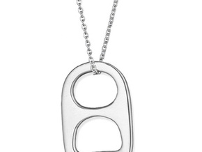 Soda Tabs Jewelry, Pendants, Necklaces, Pop Tabs,  in 14k White Gold