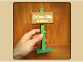 Gotham City Sign in Full Color Sandstone