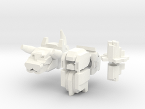 Robohelmets: Predheads as Helmets in White Strong & Flexible Polished