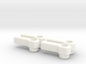 4 Thumb Levers for 3mm Cap Screw in White Strong & Flexible Polished