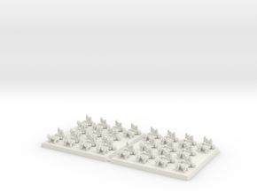 3mm DBA Chariots 40x40mm (x2) in White Strong & Flexible