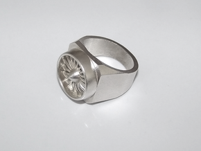 Jet Engine Type 1 Ring 19 mm in Raw Silver
