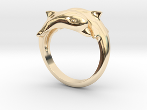 Dolphin Ring Size US 7  in 14K Gold