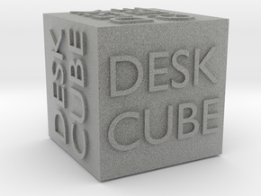 """Desk Cube"" Cube in Metallic Plastic"