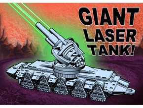 Giant Laser Tank (22 inch version)!!! in White Strong & Flexible