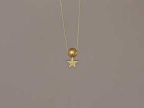 MoonStar Pendant in Polished Gold Steel
