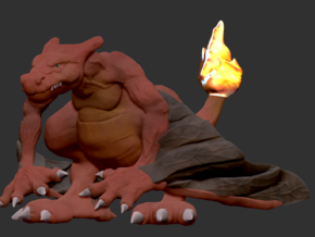 Realistic Pokemon! Charizard in White Strong & Flexible