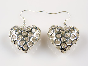 Small hearts, Big love (from $17.50) in Polished Silver