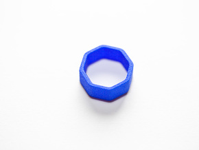 Poly8 Ring, Size US5 in Blue Strong & Flexible Polished