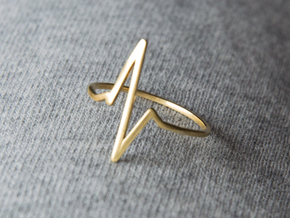Heartbeat Ring in Polished Brass