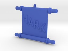 Ornament, Scroll, Hark in Blue Strong & Flexible Polished