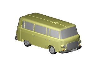 Barkas Bus (Z, 1:220) in Frosted Ultra Detail