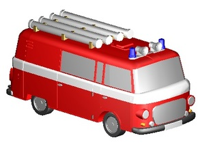 Barkas Halbbus Feuerwehr 2 (Z, 1:220) in Frosted Ultra Detail