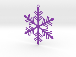 Ornament, Snowflake 002 in Purple Strong & Flexible Polished