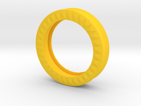 VORTEX9-50mm in Yellow Strong & Flexible Polished
