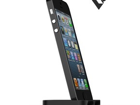 iPhone5_3D slimline dock [VvK]  in White Strong & Flexible