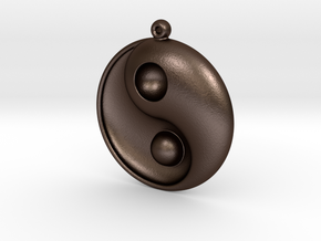 Yin Yang - 6.1 - Earring - Right in Matte Bronze Steel