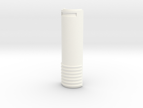 V1 - Battery Cover in White Strong & Flexible Polished