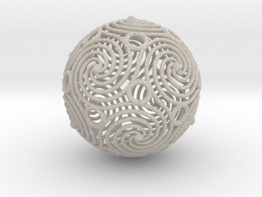 spiraling icosahedron | 2.4mm in Sandstone